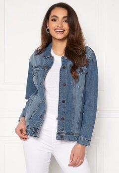 Noisy May Ole L/S Med Denim Jacket Medium Blue Denim Bubbleroom.no