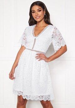 VILA Novo S/S Lace Dress Cloud Dancer Bubbleroom.no