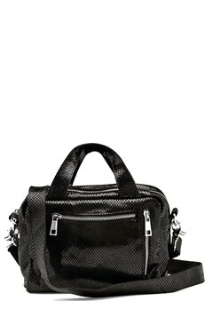 Nunoo Donna Snake Leather Bag Black w.Diamonds Bubbleroom.no