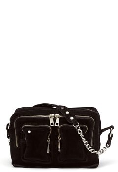 Nunoo Ellie Chain Suede Bag Black Bubbleroom.no