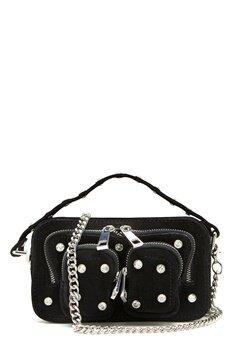 Nunoo Helena Flash Leather Bag Black w.Diamonds Bubbleroom.no