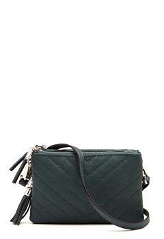 OBJECT Adelle PU Quilted Bag Forest Night Bubbleroom.no