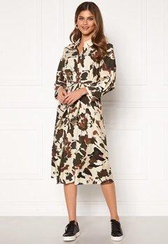 OBJECT Alika L/S Shirt Dress Sandshell AOP Bubbleroom.no