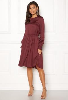 OBJECT Anna L/S Dress Chocolate Truffle Bubbleroom.no