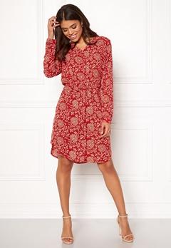 OBJECT Apala L/S Shirt Dress Haute Red Bubbleroom.no