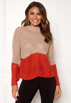 OBJECT Aya Love LS Knit Pullover Misty Rose Bubbleroom.no