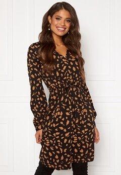 OBJECT Baya Fania Short Dress Black/Cloud d spots Bubbleroom.no