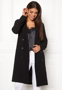 OBJECT Beau Long Coat Black Bubbleroom.no