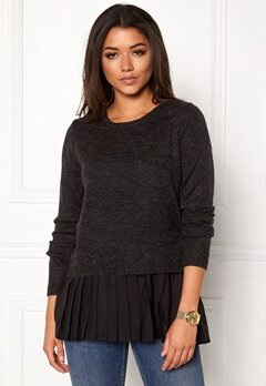 OBJECT Bel Pullover Black Bubbleroom.no