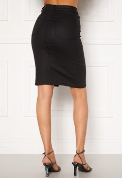 OBJECT Belle Supercoated Slit Skirt Black Bubbleroom.no