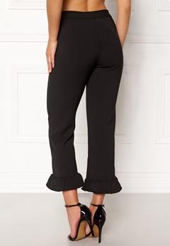OBJECT Camille Ruffle Pants Black Bubbleroom.no