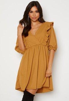 OBJECT Carolyn S/S Dress Honey Mustard Bubbleroom.no