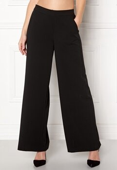 OBJECT Cecilie Wide Leg Pant Black Bubbleroom.no