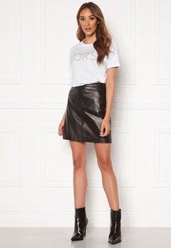 OBJECT Chloe Leather Skirt Black Bubbleroom.no