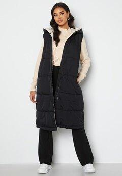 Object Collectors Item Aria S/L Hoodie Vest Black/Sandshel bubbleroom.no
