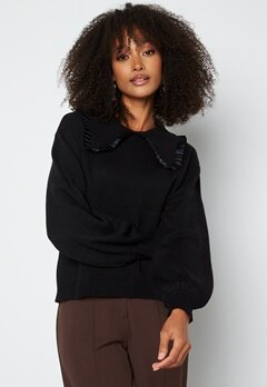 Object Collectors Item Fulton L/S Knit Pullover Black bubbleroom.no