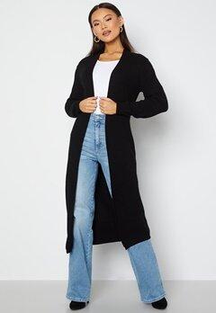 Object Collectors Item Malena L/S knit long cardigan Black Bubbleroom.no