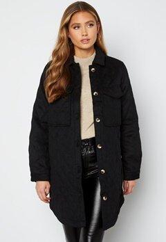 Object Collectors Item Vera owen long quilt jacket Black bubbleroom.no