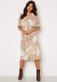 OBJECT Consilia S/S Dress Humus AOP Bubbleroom.no