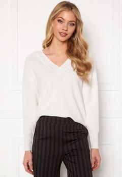 OBJECT Divian L/S Knit Pullover Gardenia Bubbleroom.no