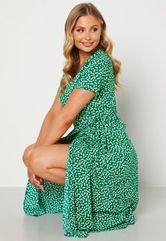 Object Collectors Item Elise S/S Long Wrap Dress Jelly Bean AOP Ditsy bubbleroom.no