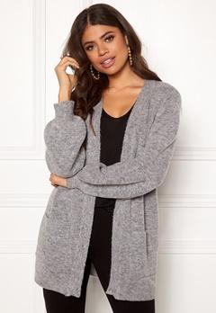 OBJECT Eve LS Knit Cardigan Light Grey Melange Bubbleroom.no