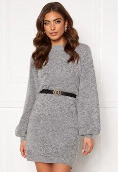 OBJECT Eve Nonsia Knit Dress Light Grey Melange Bubbleroom.no