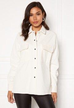 OBJECT Freja L/S Shirt Jacket Cloud Dancer Bubbleroom.no