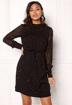 OBJECT Gabrielle L/S Dress Black Bubbleroom.no