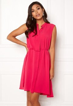 OBJECT Hastings S/L Dress Bright Rose Bubbleroom.no