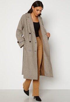 OBJECT Keily L/S Coat Sepia Check Bubbleroom.no