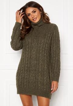 OBJECT Kiara L/S Knit Dress Forest Night/Melange Bubbleroom.no