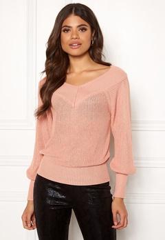 OBJECT Landaz L/S Knit Pullover Misty Rose Bubbleroom.no