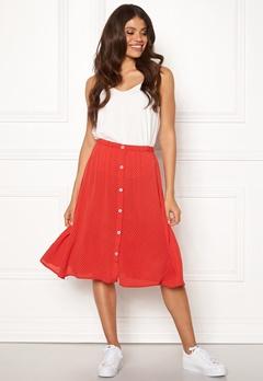 OBJECT Lemon MW Midi Skirt Poppy Red Bubbleroom.no