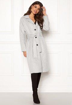 OBJECT Lena Coat Light Grey Melange Bubbleroom.no
