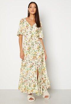 OBJECT Lorena S/S Long Dress Sandshell Bubbleroom.no