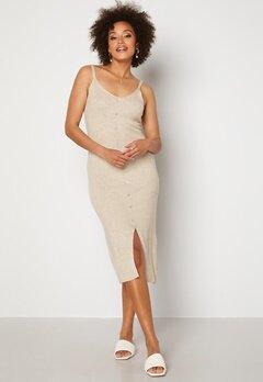 OBJECT Lucilla S/L Knit Dress Sandshell Bubbleroom.no