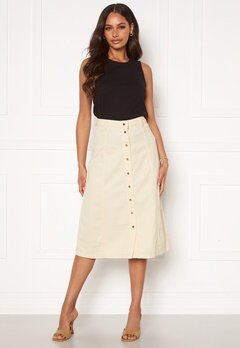 OBJECT Lucinda Sinya Twill Skirt Sandshell Bubbleroom.no