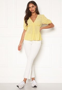 OBJECT Marina Belle Twill Jeans Sandshell Bubbleroom.no