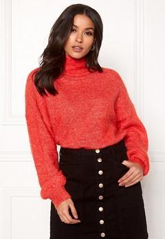 OBJECT Maryam Nete L/S Knit Fiery Red Bubbleroom.no