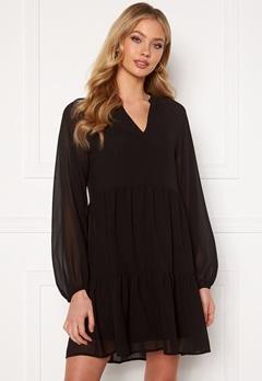 OBJECT Mila Gia L/S Dress Black Bubbleroom.no