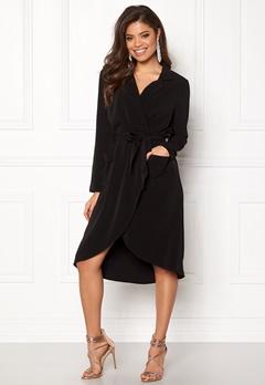OBJECT Nell L/S Long Dress Black Bubbleroom.no