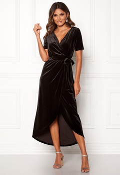 OBJECT Noreena 3/4 Wrap Dress Black Bubbleroom.no