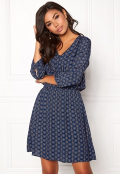 OBJECT Phoebe V-Neck Dress Mood Indigo Bubbleroom.no