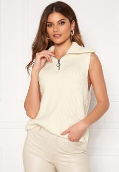 OBJECT Rachel Knit Vest Gardenia Bubbleroom.no