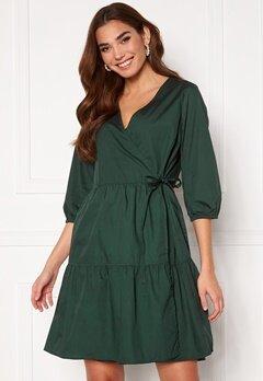 OBJECT Schinni L/S Wrap Dress Scarab Bubbleroom.no
