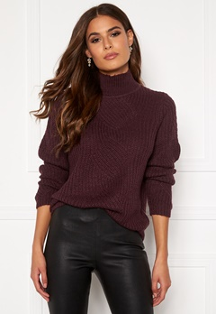 OBJECT Shiloh L/S Knit Pullover Port Royale Bubbleroom.no