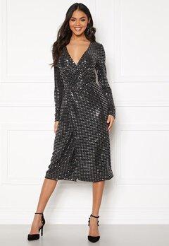 OBJECT Sola L/S Dress Black Bubbleroom.no