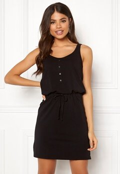 OBJECT Stephanie S/L Short Dress Black Bubbleroom.no