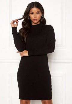 OBJECT Thess L/S Knit Dress Black Bubbleroom.no